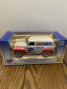 Car Quest 1952 Chevy Panel Delivery Truck Die Cast Metal Lockable Coin Bank 4th