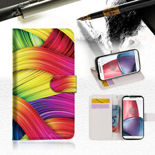 Meaningful Abstract Wallet TPU Case Cover For  Motorola Moto G5S Plus -- A020