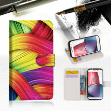 Meaningful Abstract Wallet TPU Case Cover For Motorola Moto X Force-- A020