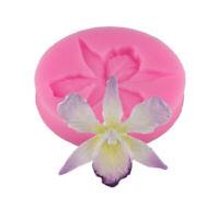 Silikon Form 3D Orchidee Blume Form Prägung Fondant Kuchen Dekoration Werkzeuge