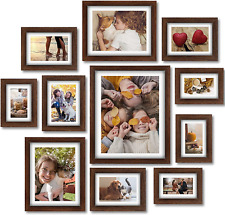 New ListingPicture Frames Set of 11 Pcs Photo Frames Collage with Mat for Wall Tabletop Inc
