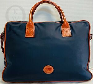 Dooney & Bourke*Nylon*RUTLAND*Navy Blue*Brief Case* Briefcase* 21104F S27