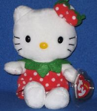TY HELLO KITTY STRAWBERRY BEANIE BABY - MINT with MINT TAGS - UK EXCLUSIVE