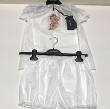 D&G New Girls Kids 2 PC PAJAMA PJ SET -CHERUB TOP w BLOOMERS Sz 10 RTL $185 P732