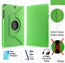 360 Rotating PU Leather Case Cover For Samsung Galaxy Tab A 8.0 T350/P350 Green
