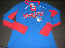 Women's New York Rangers Old Time Hockey Lacer Jersey XL