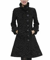 DESIGUAL Zebra Print Asymmetrical Button Up Women's Trench Jacket, Size 46 / XXL