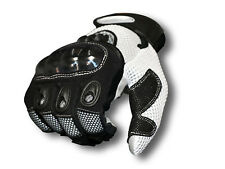 New AGVsport Mayhem Motorcycle Gloves Mesh Hard Knuckle Clarino synthetic palm