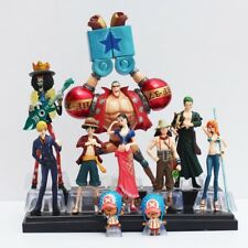 ONE PIECE - Set 10 figuras Luffy, Nami, Roronoa Zoro, Franky, Joe, 4-18 cm