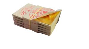 3x3cm 5pcs Edible Gold Leaf Foil Transfer Sheets Food Decoration 24Karat 99.99%