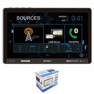"Jensen CMM710 10.1"" Touchscreen Bluetooth Single Din Digital Multimedia Receiver"