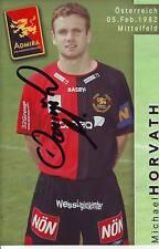 FOOTBALL carte joueur MICHAEL HORVATH équipe  ADMIRA signée