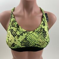 Victoria's Secret PINK Ultimate Lightly Lined Sport Bra Yellow / Black  XS  NWT