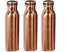 Indian 100% Copper Water Bottle Natural Ayurveda Benefit Health Set-3 Pitcher