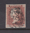GREAT BRITAIN: 1d RED BROWN SG7-12??? NOT SURE, BUT A BEAUTY!!! F.USED