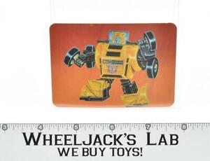 Bumblebee Card 28 Variant Color Transformers Action Trading Cards 1985 G1