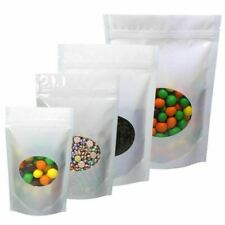 Multi Color Amp Size Glossy Mylar Stand Up Zip Lock Bag With Round Window M51