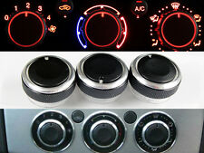 Ford FOCUS BLACK Panel Knobs Custom Mod Air Con A/C Heater Dials FREE Key Case