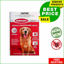 NUHEART Red by Pharmachem Heartworm treatment 6 Tablets for Dogs 23 to 45 Kg
