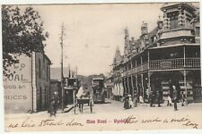 CGH: EDVII Postcard, Main Road - Wynberg; Cape Town to London, 4 Oct 1905 [?]