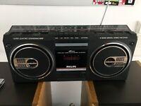 Philips D8154 Kassettenrecorder Super Quattro Soundmashine Ghettoblaster