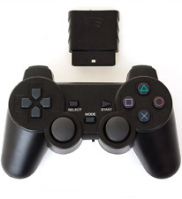 PS2 Wireless Controller For PlayStation 2 Black 2.4G