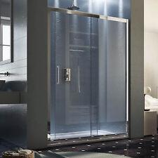 Nicchia doccia scorrevole 2ante trasparente con profili in ottone cromato 180 cm