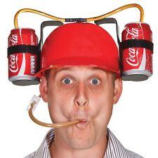 Beer Cola Can Drinking Helmet Hard Hat Drink Holder
