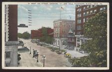 Postcard ERIE Pennsylvania/PA  YMCA & Bell Telephone Co Buildings view 1910's