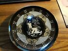Vintage 24 k gold decorative Hand Painted Black Plate From Greece from hellas
