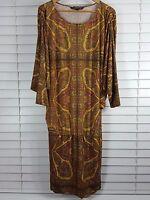 CHARLIE BROWN sz 14 womens Baroque Print Dress [#2342]