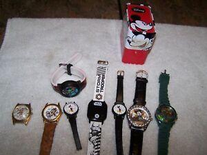 8 Watches-Disney 3 Mickey Mouse 2 Lorus Star Wars Marvel 2-Armitron Taz-7 WORK