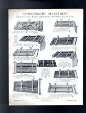 1929 Trouser Press & Trays Umbrella Stands Harrods Vintage Advert Double Sided