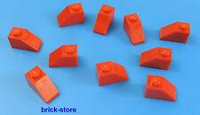 LEGO 1x2 Dachstein rosso / 10-pc