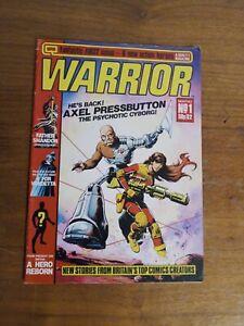 WARRIOR COMIC NO. 1 QUALITY MAGAZINE 1982 UK  1ST V FOR VENDETTA ALAN MOORE FN+