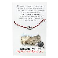 Red String Wrist Bracelet with Silver 925 Against Evil Eye Amulet from Jerusalem