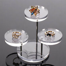 Acrylic Jewellery Display Necklace Bracelet Round Table Holder Stand Rack Case