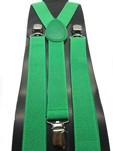 40 Colors Sexy Men Women Clip-on 1xSuspenders Elastic Y-Shape Adjustable Brace