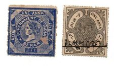 Two Stamps India Local Revenue / Berar & Unknown State