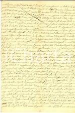 1830 ca STORIA MODERNA Europa immensamente combattuta dalle guerre *Manoscritto