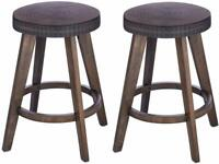 """Set of 2 Barstools Bar Stools Kitchen Counter Height 18, 24 or 29"""" high Wood"""