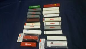 Lot 20 HO Shipping Containers 40' 53' K-Line CSX Evergreen Stax APL APC NB VG-LN