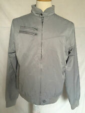 Mens English Laundry Jacket Wind Jammer Sz Medium Silver Embroidered 13 Full Zip