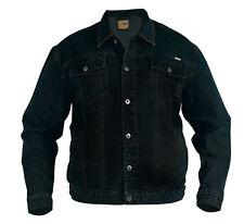 New Mens Superb Quality Denim Trucker Jacket Black