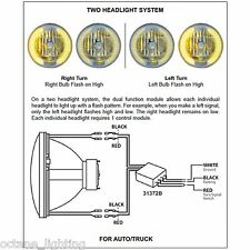 Car/Truck LED Headlight Drl Halo & Turn Signal Light Dual Control Relay Modules