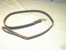 8FT X 1 IN LEATHER DOG TRAINING LEASH POLICE K9 SCHUTZHUND A HARD TO FIND ITEM