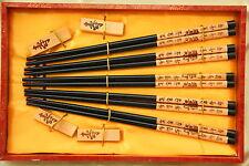 5 Baguettes Chinoises-Chopsticks-Kuai Zi-Junquillos-Stäbchen-bacchette-Longévité