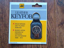 Vintage AA Leather Key Fob ~~ Classic Cars - Commercials Motorcycles Scooters .