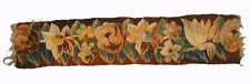 A Gorgeous Antique Tapestry Border with Flowers