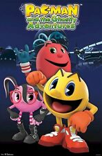 PAC-MAN ~ GHOSTLY ADVENTURES TRIO 22x34 POSTER Arcade Video Game Pacman Cartoon